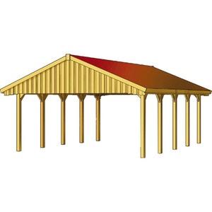 Carport voiture - 46,50 m² - 6.20 x 7.50 x 3.54 m HABITAT ET JARDIN