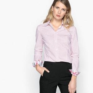 Blouse met hemdskraag en stippenprint ANNE WEYBURN