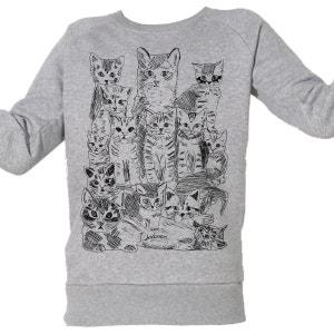 Sweat-Shirt Imprimé Bio Enfant Chatons ARTECITA