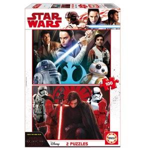Puzzle 2 x 100 pièces : Star Wars : Les derniers Jedi EDUCA