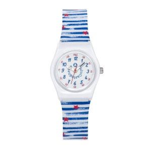 Montre fille analogique cadran pédagogique bracelet plastique boitier 26 mm  Pop LULU CASTAGNETTE