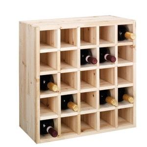 Casier à bouteilles de vin  naturel pour 25 bouteilles zeller ZELLER PRESENT