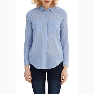 Chemise droite rayée ESPRIT