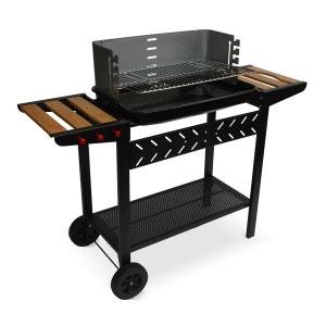 Barbecue charbon Alfred, cuve émaillée, tablettes latérales bois, rangements ALICE S GARDEN