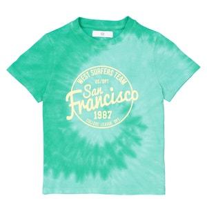 T-shirt, Tye-dye estampada, 3-12 anos La Redoute Collections