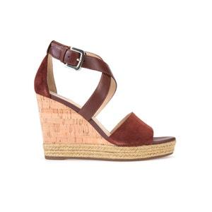Skórzane sandały na koturnie D Janira E GEOX