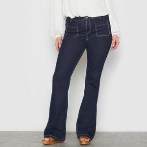 Jeans flare in denim stretch CASTALUNA