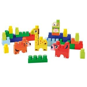 Briques de construction Abrick : Baril animaux : Bleu ECOIFFIER