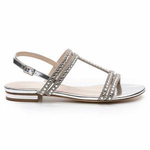 Sandales plates, cuir, Hidi Mir COSMOPARIS