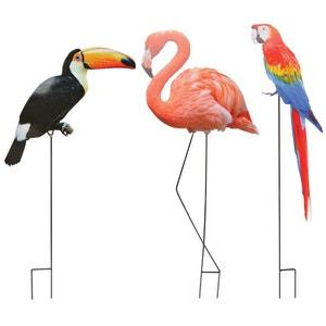 Oiseaux exotiques sur pique (Lot de 3) ESSCHERT DESIGN