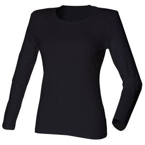 T-shirt extensible , manches longues, femme et fille SKINNI FIT