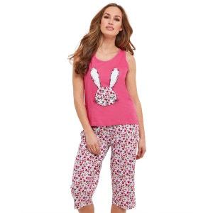 Ensemble pyjama court en jersey à imprimé lapin Joe Browns Femme JOE BROWNS