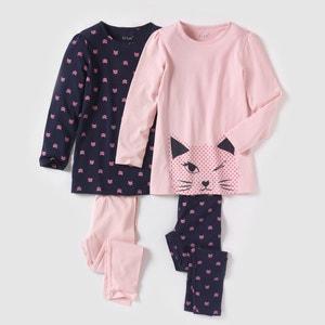 Pijama de punto estampado 2-12 años (lote de 2) R édition