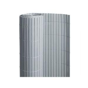 Canisse PVC double face Gris 6 m - 2 rouleaux de 3 x 1,80 m - Jardideco JARDIDECO
