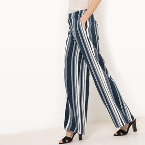 Pantaloni larghi a righe VILA