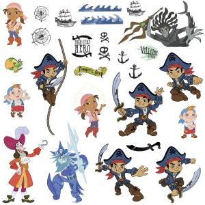 27 Stickers Jake et les Pirates du pays imaginaire Disney ROOM MATES
