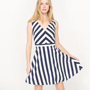 Ärmelloses Kleid, V-Ausschnitt, Streifen MOLLY BRACKEN