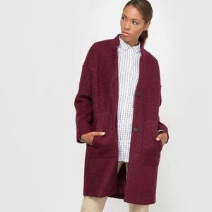 Płaszcz oversize 40% parzonej wełny La Redoute Collections