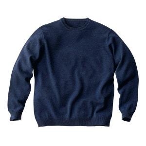 Round Neck Lambswool Jumper/Sweater CASTALUNA FOR MEN