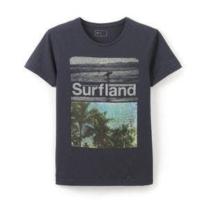 T-shirt com gola redonda, estampada R essentiel