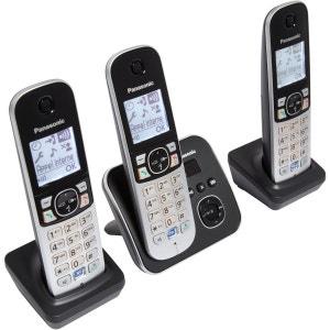 Téléphone répondeur sans fil trio PANASONIC TG6823FRB PANASONIC