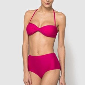 Bikini-Oberteil in Bandeau-Form, uni La Redoute Collections