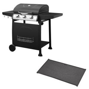 Barbecue 3 brûleurs + plaque HAPPY GARDEN