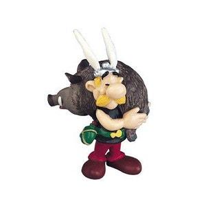 Figurine Astérix et Obélix : Astérix portant un sanglier PLASTOY
