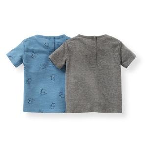T-shirt imprimé dinosaure 1 mois-3 ans (lot de 2) La Redoute Collections