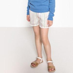 Gestreepte short met elastische tailleband 3-12 jaar La Redoute Collections