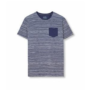 Gestreiftes Poloshirt mit kontrastfarbener Brusttasche ESPRIT