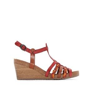 Sandały skórzane na koturnie, Spainy KICKERS