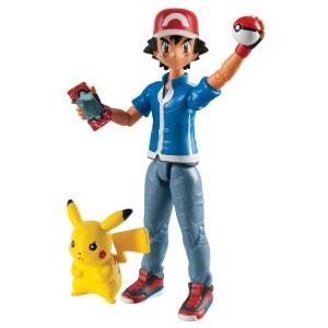Figurine d'action Pokemon : Sacha et Pikachu TOMY