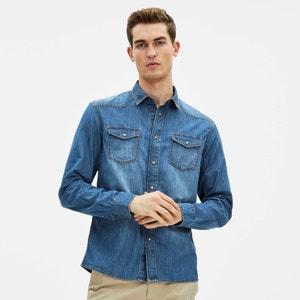 Camisa de ganga com recorte Western GAJEANS CELIO