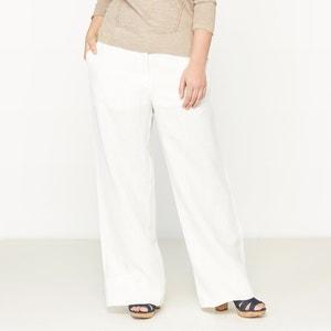 Pantalón ancho 100% lino CASTALUNA