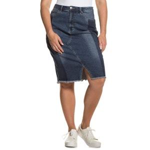 Gładka, długa, spódnica portfelowa ULLA POPKEN