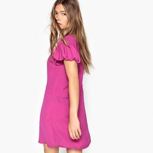 Knielanges Kleid aus Polyester, kurze Ärmel MADEMOISELLE R