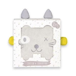 Coffret couverture et coussin Tête de chat La Redoute Collections