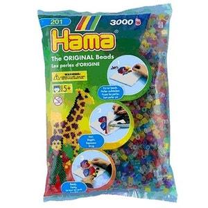 Sachet de 3000 perles Hama Midi : Transparent HAMA