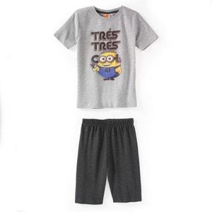 Pijama curto estampado, 3 - 12 anos LES MINIONS