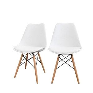 Lot de 2 chaises design bois métal Nielsen DRAWER