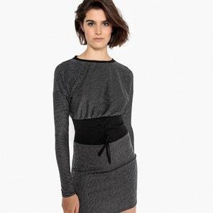 Платье облегающее короткое с длинными рукавами