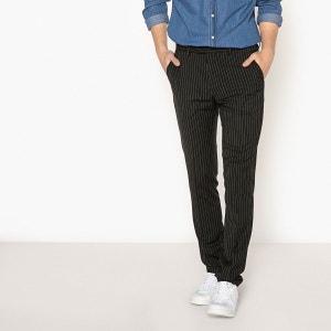 Pantalon de ville rayé La Redoute Collections