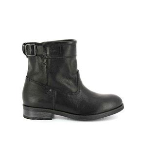 Leder-Boots mit Riemen