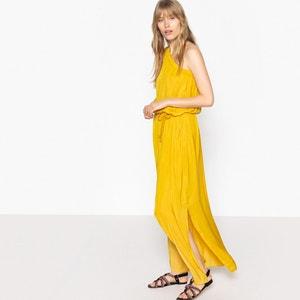 Vestido largo vaporoso, con escote asimétrico La Redoute Collections