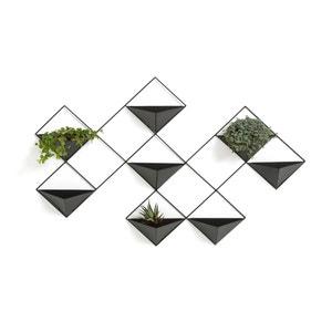 Bloempot voor aan de muur in metaal Ikebana