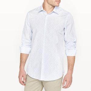 Bedrukt slim hemd R édition