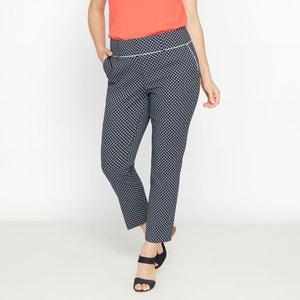 Wąskie żakardowe spodnie CASTALUNA