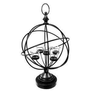 Photophore métal forme globe 5 bougeoirs H49cm PIER IMPORT
