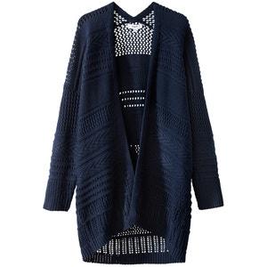 Cotton Long-Sleeved Open Cardigan SUNCOO